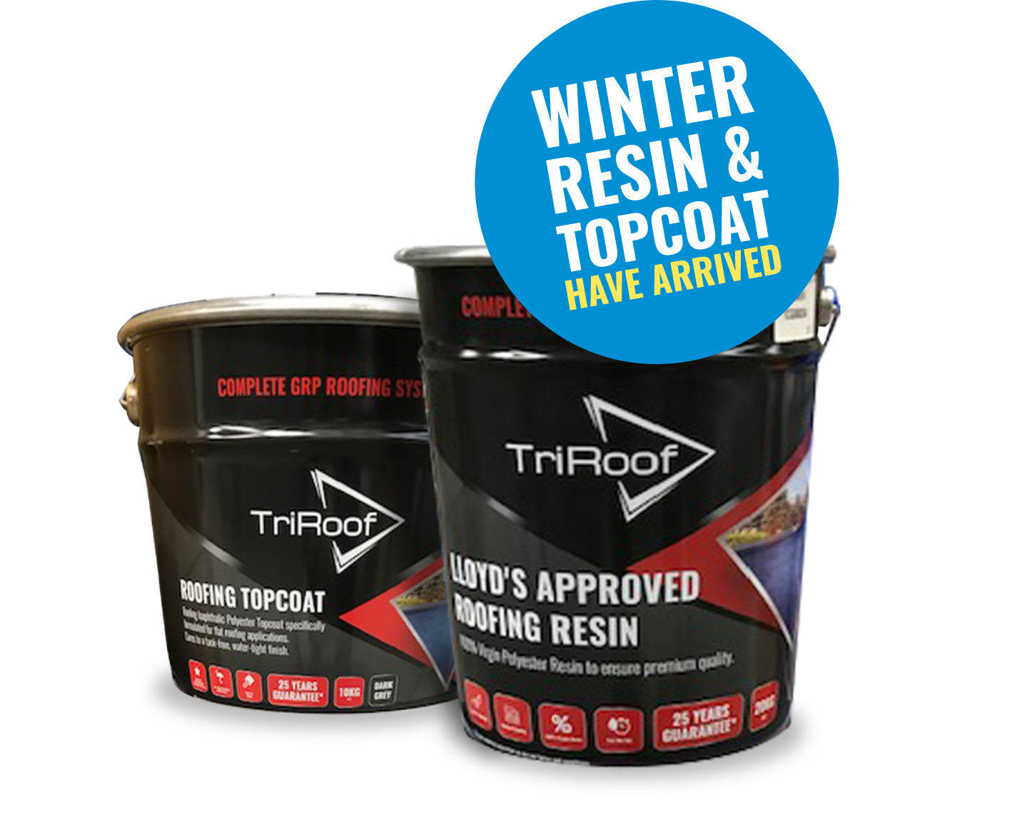 Winter TriRoof Resin and Topcoat